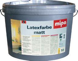 latexfarbe matt mipa latexfarbe matt 5 lt frickwork