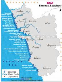 beaches map beaches in goa