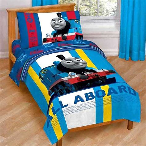 thomas toddler bed thomas train railroad crossing toddler bed set tank engine comforter sheets ebay