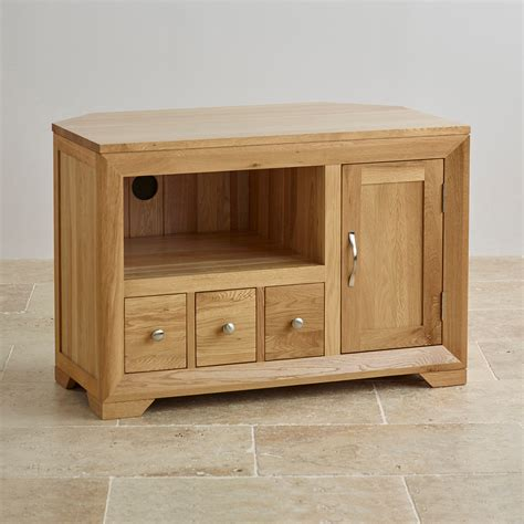 small corner tv cabinet bevel small corner tv cabinet in solid oak oak furniture