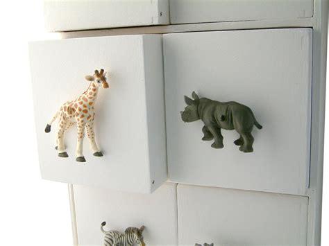 childrens room safari grey rhino drawer knob