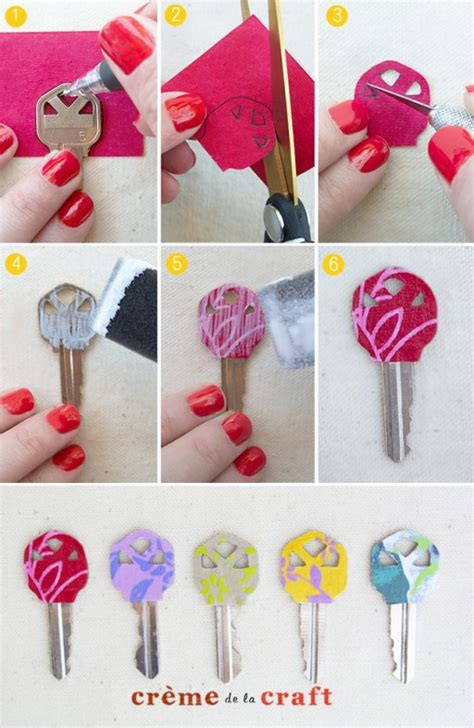 How To Make Paper Key - how to make gorgeous personalized key makeover step by