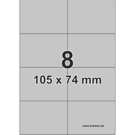 Word Vorlage Etiketten 105 X 74 silberne etiketten f 252 r laserdrucker