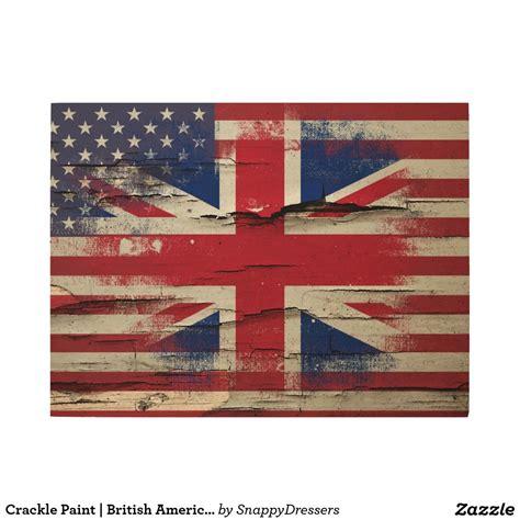 crackle paint british american flag wood wall art