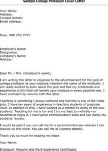 cover letter for college professor position best photos of letter interest position in to a show