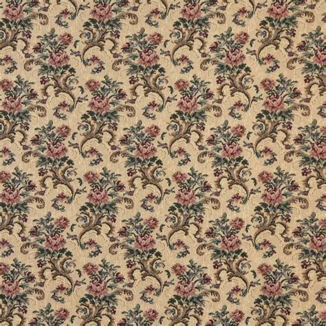 Tapestry Fabric For Upholstery by Gold Burgundy And Green Floral Tapestry Upholstery Fabric