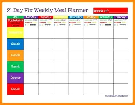 meal planner template excel awesome diet spreadsheet template ideas themes