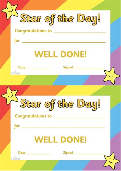 printable games for classroom twinkl resources gt gt star of the day a4 poster gt gt classroom