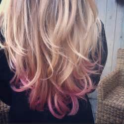 subtle hair color subtle pink dip dye check out more subtle dip dyed hair