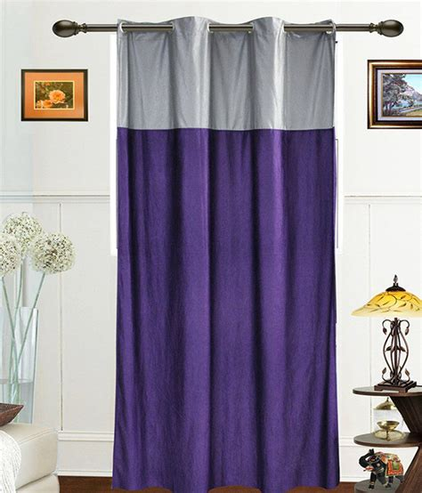 silver and purple curtains dekor world silver purple plain polyester door curtain