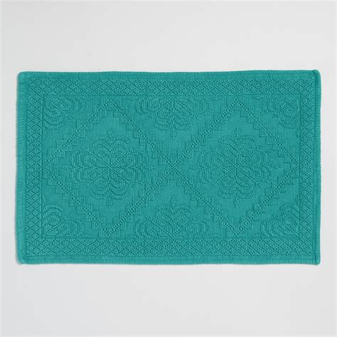 Teal Bath Rugs Teal Woven Bath Mat World Market