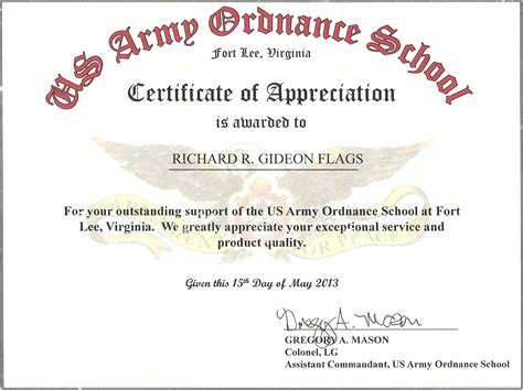 air certificate of appreciation template certificate of appreciation template air
