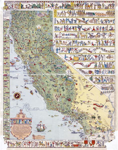 united states map california large detailed illustrated tourist map of california