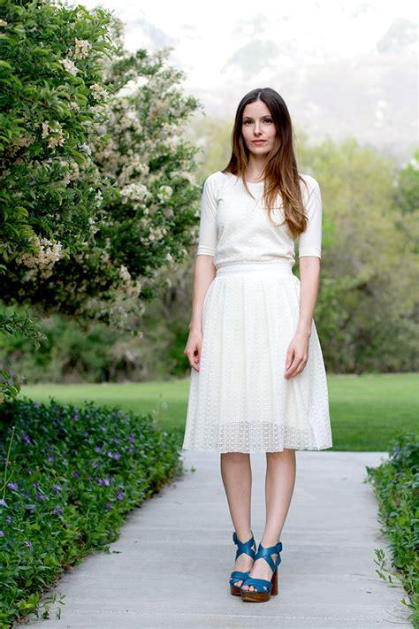 diy modern pleated lace skirt