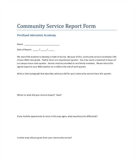 Community Report Template