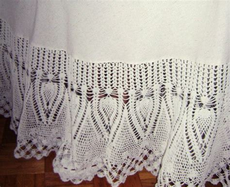 crochet bed skirt 17 best images about crocheted lace ruffled bed skirts