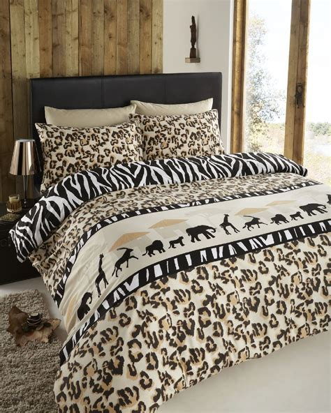 Serengeti Leopard Zebra Print Safari Reversible Duvet Safari Bedding