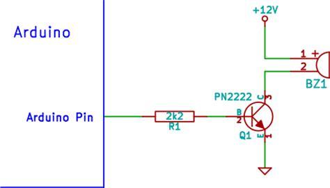 transistor to drive buzzer arduino buzzer circuit