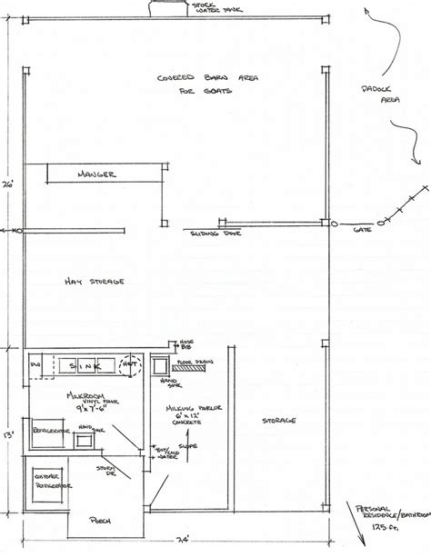 goat barn floor plans blueprint for a goat milking facility homestead