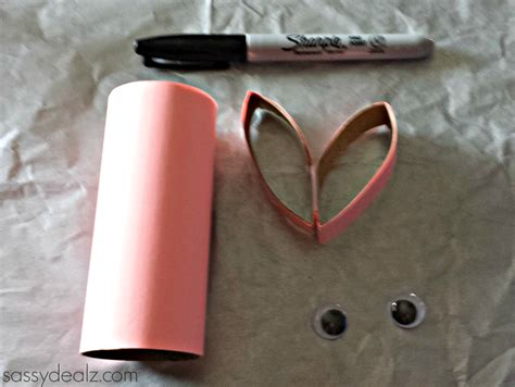 Crafts With Toilet Paper Rolls - bunny rabbit toilet paper roll craft for crafty morning