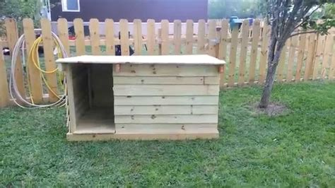 in house dog fence how to build a dog house out of fence pickets youtube
