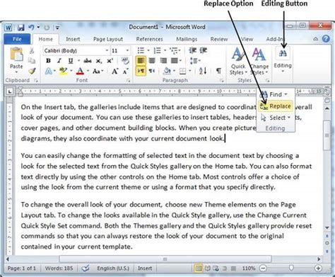 How Do You Find To Follow On Find Replace In Word 2010