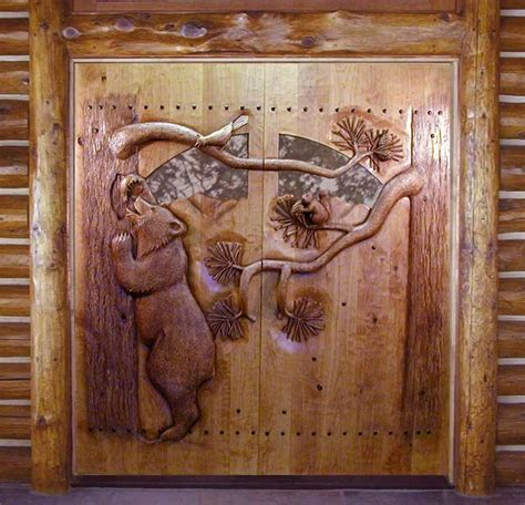 Carved Doors by Carved By Ramsey Carved Wood Doors Wildlife Carving