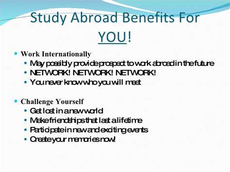 Advantages Of Studying Mba by Mba Graduate Business Study Abroad Presentation