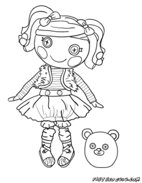 lalaloopsy halloween coloring pages printable mittens fluff n stuff doll lalaloopsy coloring