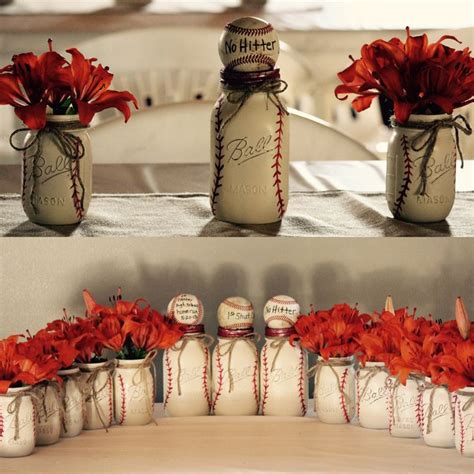 baseball wedding centerpieces best 25 graduation centerpiece ideas on grad