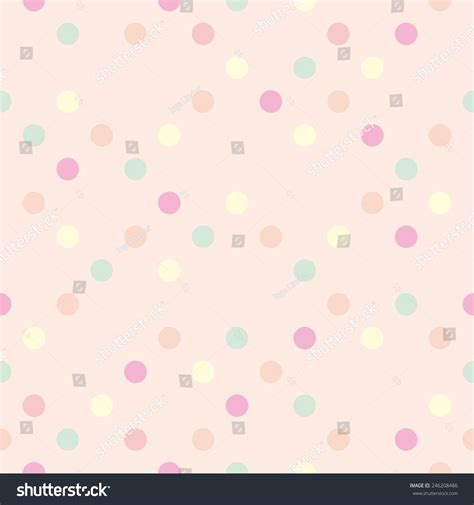 seamless polka dots patterns background pastel stock vector pastel vector polka dots on pink stock vector 246208486