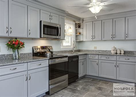 Norfolk Kitchen Cabinets by Transitional Gray Kitchen In Hudson Nh Norfolk Kitchen