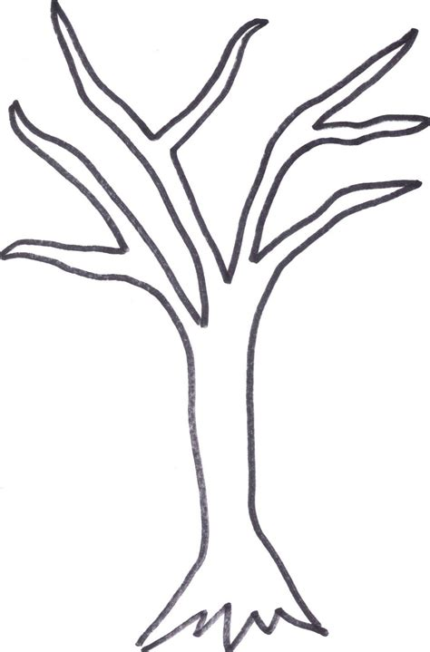 Printable Tree Trunk Here Is The Tree Outline If Anyone Wants To Cut It Out Or Print It Out Tree Templates To Print
