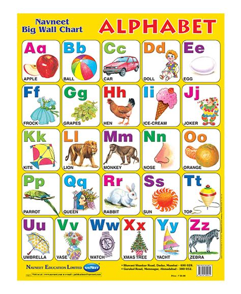 Home Decor Gifts Online India by Buy Navneet Alphabets Big Wall Chart Online In India
