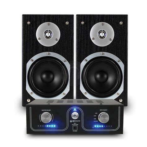 cheap skytronic 5 inch bookshelf speakers qtx sound