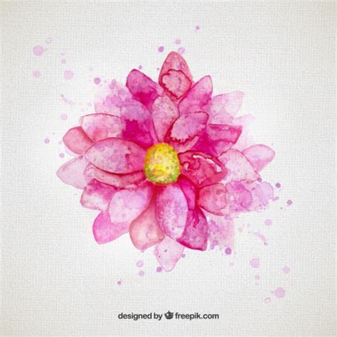 L Use An Blumen 4425 by Watercolor Flower In Pink Tone Vector Free