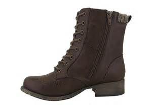 jelly pop boots womens jellypop dalen lace side zip boot brown