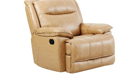 beige leather recliner canyon ranch beige leather glider recliner contemporary