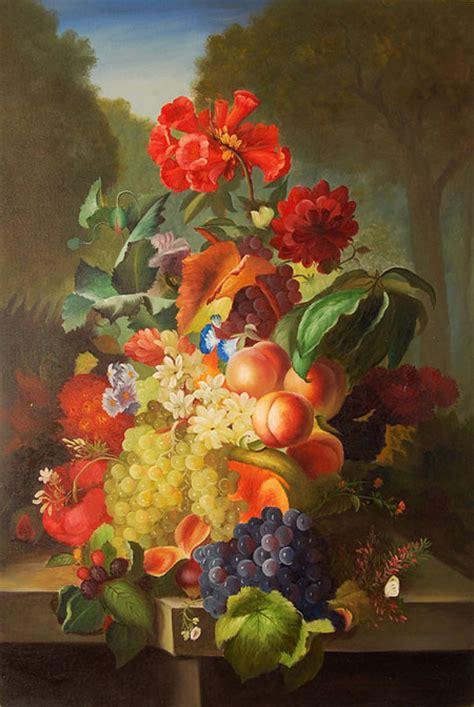 fiori con la frutta falso di autore fiori e frutta di sconosciuto in vendita
