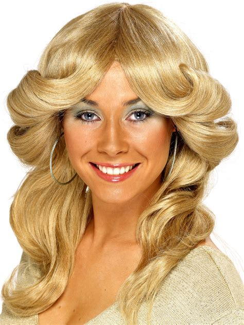 layered haircuts of the 60s and 70s 70s layered flick wig blonde 42251 fancy dress ball