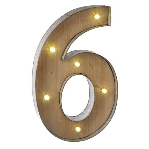Reduced wooden metal carnival style led light up numbers