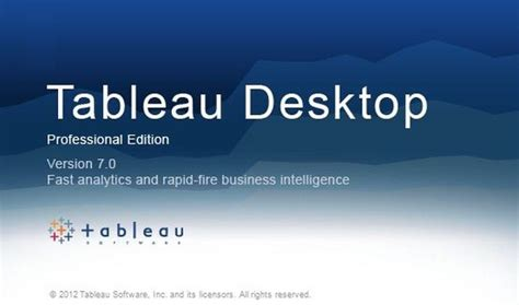 Tableau Desktop Personal Edition visually organize data from databases and spreadsheets