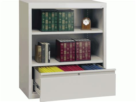 bookcase with file drawer 42 quot h metal storage cabinets