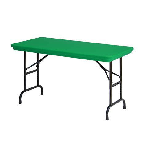 Adjustable Height Folding Table Correll R Series Ra2448 24 Quot X 48 Quot Green Plastic Adjustable Height Folding Table