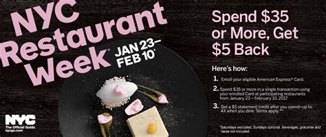 Restaurant Gift Cards Nyc - amex offers 5 off 35 nyc restaurant week 25 off 250 at adorama doctor of credit