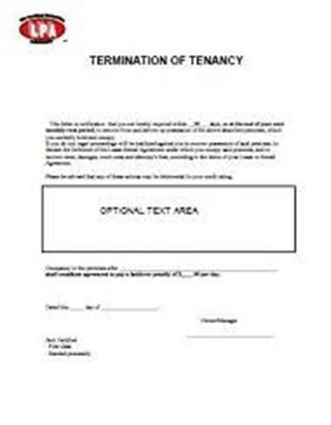 Lease Termination Letter Wa Non Renewal Of Tenancy Notice At Essential Landlord Rental