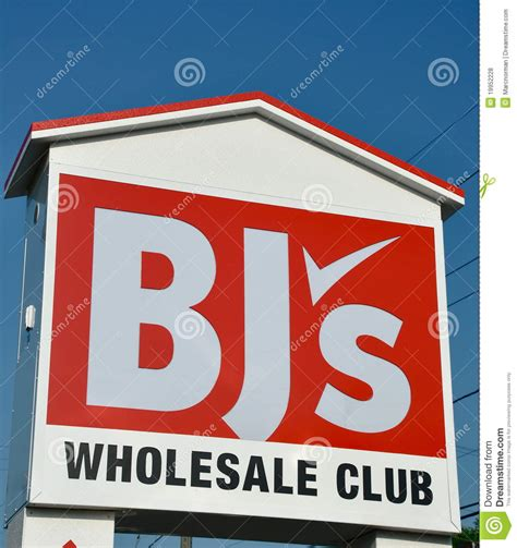 bj s bj s wholesale club sign editorial stock photo image of