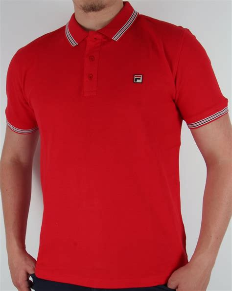 Polo Shirt Fila Keren Terlaris fila vintage matcho 3 polo shirt classic mens borg