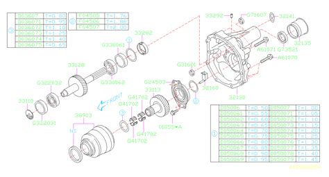aa subaru center differential assembly