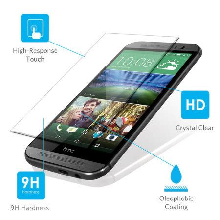 Tyrex Tempered Glass For Htc One M8 olixar htc one m8 tempered glass screen protector